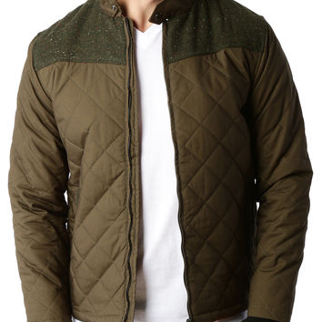 LE3NO Mens Lightweight Quilted Full Zip Bomber Jacket with Elbow Patches (CLEARANCE)