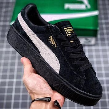 Trendsetter  Puma Suede Platform Women Fashion Casual Low-Top Skateboard Shoes
