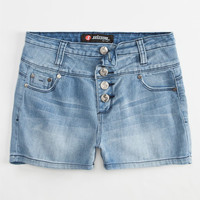 Scissor Girls Highwaisted Denim Shorts Light Blast  In Sizes
