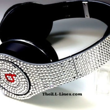 Custom Beats by Dre Headphones SILVER CRYSTAL  Mothers Day Special  Free Studio Beats  Limited Time Only