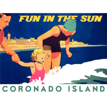 Personalized Coronado Island Wood Sign