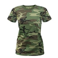 Woodland Camouflage Women's Longer Tactical T-Shirt