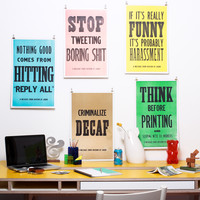 I liked this design on #Fab. Division Of Labor Poster Set