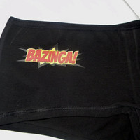 Bazinga Big Bang Theory Inspired Panties. Sheldon Cooper Inspired. Customize By Size and Style.