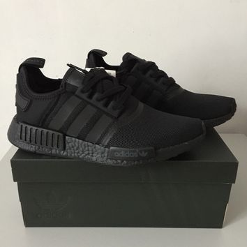 ADIDAS NMD_R1 TRIPLE BLACK S31508 REFLECTIVE LIMITED EDITION TRAINERS ALL SIZES