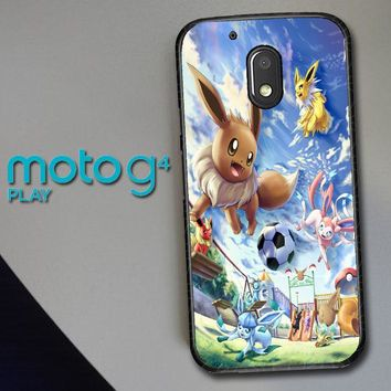 Eevee And Umbreon And Espeon X0915 Motorola Moto G4 Play Case