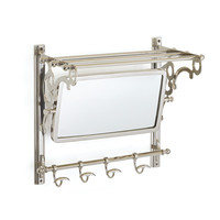 Go Home Chatam Mirror And Towel Rack - 17076