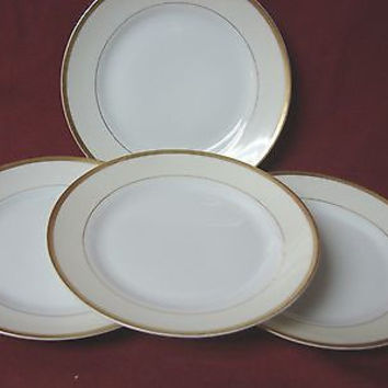 Noritake, China dinnerware M Nippon, Cream band,  set 4 Bread plate