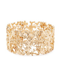 Filigree Leaf Stretch Bracelet | Forever 21 - 1000163941