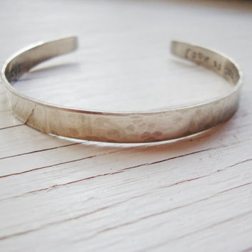 Fortune bracelet cuff- hand stamped with a surprise fortune specially for you
