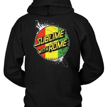 Sublime With Rome Rasta Hoodie Two Sided