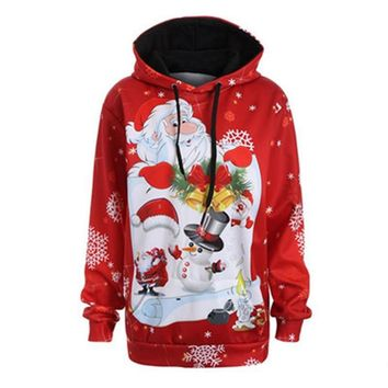 2018 Sweaters Ugly Christmas Hooded Sweater Couple Matching Clothes Unisex Outfits for Lovers Women Men Autumn Winter NEW
