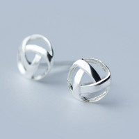 Personalized geometry shape 925 sterling silver earrings,a perfect gift