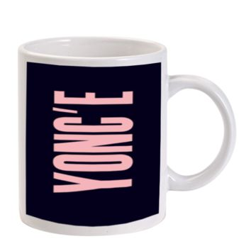 Gift Mugs | Yonc'e Beyonce Pink Ceramic Coffee Mugs