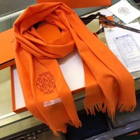 Hermes Women Fashion Embroidery Wool Warm Scarf Scarves