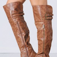 Wild Diva Tosca-78 Over The Knee Riding Boots | MakeMeChic.com