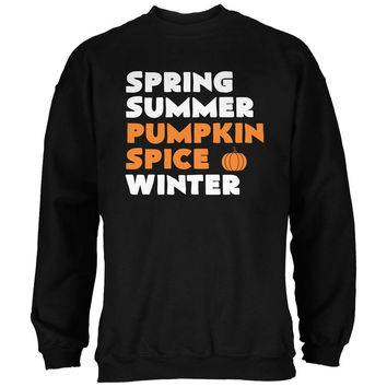 Spring Summer Pumpkin Spice Black Adult Sweatshirt