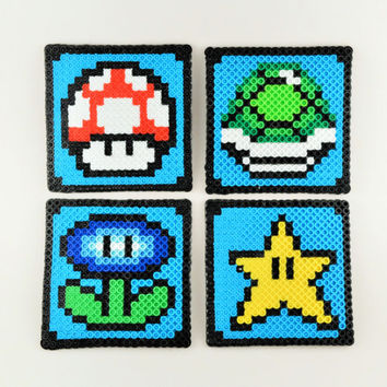 Mario Perler Coasters - Set of 4