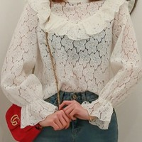 Fly Away Lace Blouse