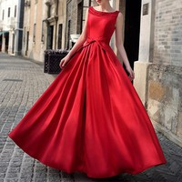 Luxury Long Party Dresses Women Red Bandage Floor Length Maxi Dress Elegant Bridesmaid Black Ball Prom Formal Dress