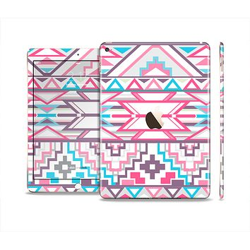 The Vector Pink & White Modern Aztec Pattern Skin Set for the Apple iPad Air 2