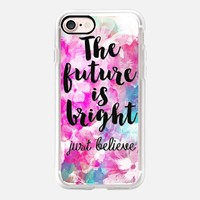 The Future is Bright iPhone 7 Capa by Li Zamperini Art | Casetify