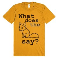 What does the fox say?-Unisex Mandarin Orange T-Shirt