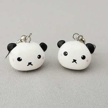 Kawaii Panda Earrings Polymer Clay