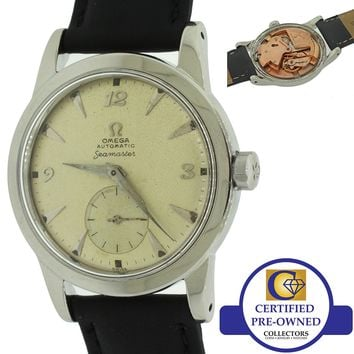 1950s Vintage Omega Seamaster Steel 2576-13H caliber 342 Bumper Automatic Watch