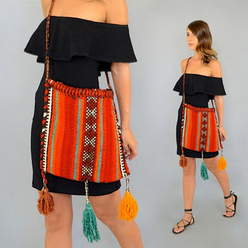 Tapestry TASSELS Carpet Bag