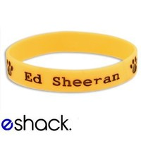 Orange Ed Sheeran Silicone Wristband