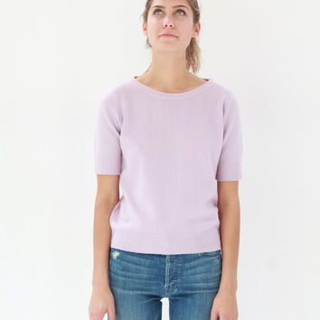 Lina Rennell Cashmere Top Lilac