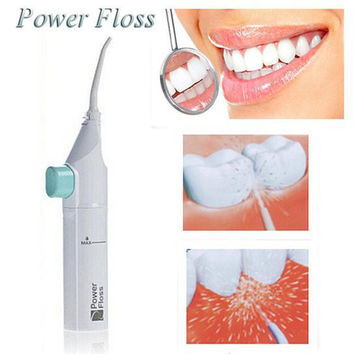 Cool Compact Power Floss Whitening Flosser & Oral Irrigator