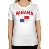 Panama Ladies Flag Classic Fit T-Shirt - White