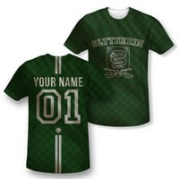 Exclusive Personalized Slytherin Crest Adult Quidditch Jersey |
