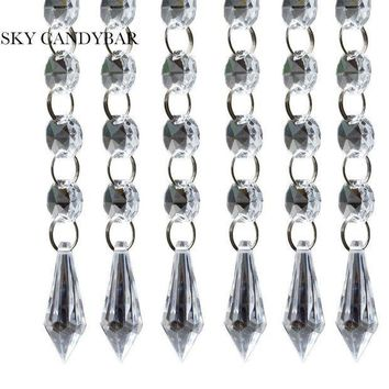 ESBONFI SKY CANDYBAR 6 strands 20' Acrylic Crystal Garland Chandelier  Hanging Bead Chains Free shipping