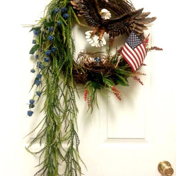 Freedom Eagle Patriotic Wreath