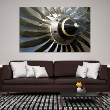 32586 - Extra Large Airplane Propeller Close-up Wall Art, Propeller Canvas, Airplane Canvas, Aviation Wall Art, Large Wall Art, Large Canvas Print, Framed Wall Art