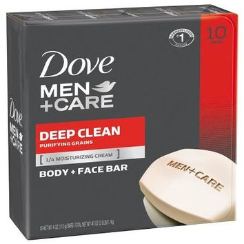DOVE MEN + CARE DEEP CLEAN FACE & BODY BAR 10-4 OZ BAR