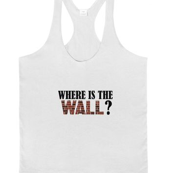 Where Is The Wall Mens String Tank Top by TooLoud
