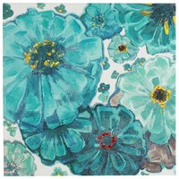 Teal Blooms Art