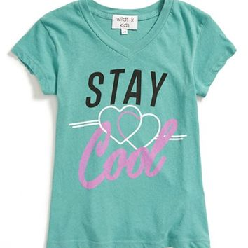 Girl's Wildfox 'Stay Cool - Tourist' Graphic V-Neck Tee,