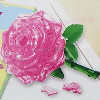 3D Crystal Puzzle Rose