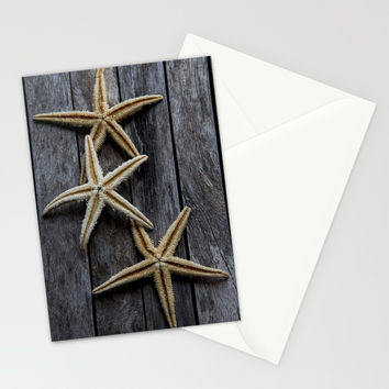 Starfishes in wooden Stationery Cards by VanessaGF
