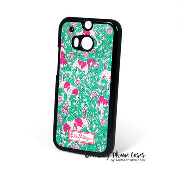 Dog Yard - Lilly Pulitzer HTC One M8 Case Cover for M9 M8 One X Case