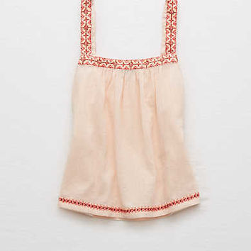 Aerie Embroidered Tank , South Peach