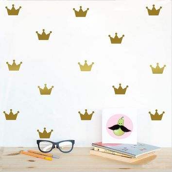 2017 Crown pattern wall paste sticker for kid's bedroom decorate wall sticker Princess baby girl wall decor