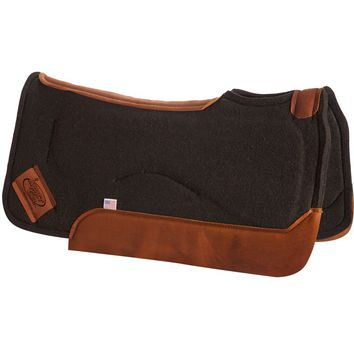 Impact Gel Contour Black 1in. Saddle Pad
