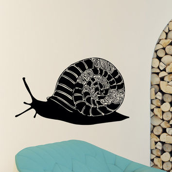 Wall Decal Vinyl Stickers Snail Animal Wall Decals Murals Snail Shell Wall Art Nursery Kids Bedroom Dorm Interior Design Home Decor Z837