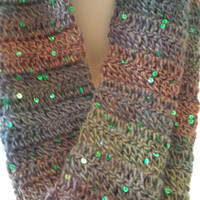 Crocheted Cowl Infinity Scarf